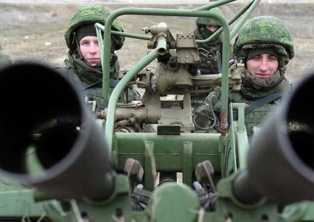 An anti-aircraft gun during the snap combat readiness. (File)
