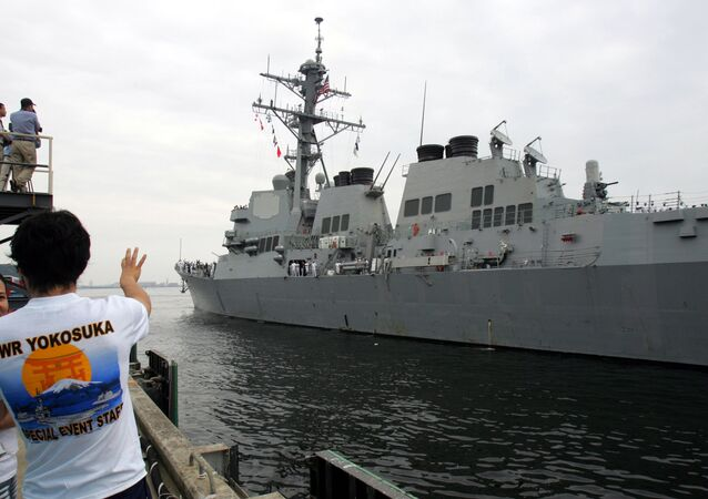 U.S. Navy's guided-missile destroyer USS McCampbell (DDG85) arrives at Yokosuka naval base, south of Tokyo, Monday July 9, 2007