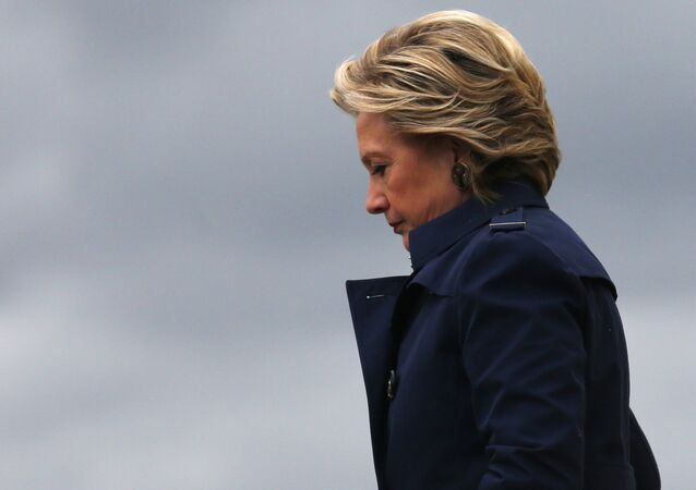 US Democratic presidential nominee Hillary Clinton arrives at Burke Lakefront airport in Cleveland, Ohio US, October 21, 2016.