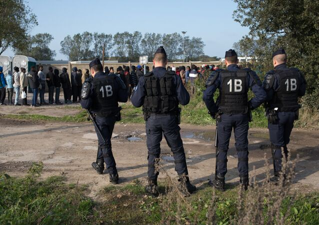 The refugee camp in Calais, France