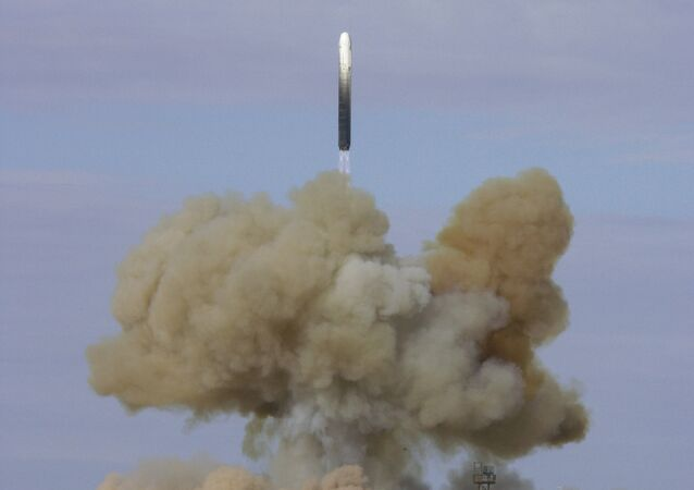 RS 18 ballistic missile launched from the Baikonur space center. File photo