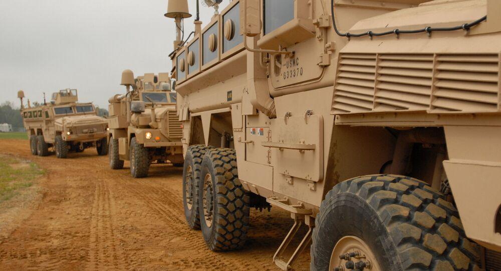 US Marine Corps RG-33 APCs