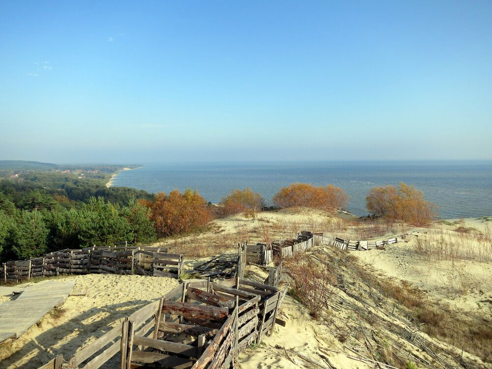 The Curonian Spit is considered the largest sand bay-bar in the world.