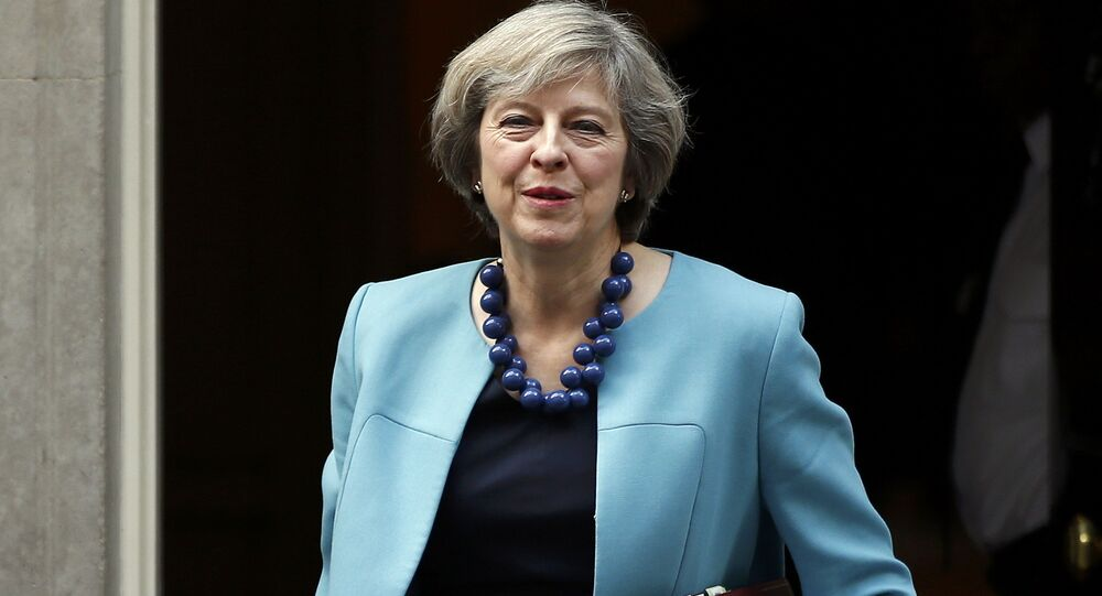 Britain's Prime Minister, Theresa May, leaves 10 Downing Street.