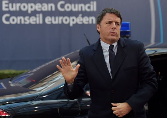 Italy's Prime Minister Matteo Renzi arrives at the EU summit in Brussels, Belgium October 21, 2016.