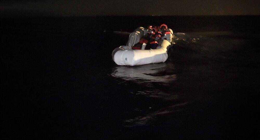 A total of 25 migrants were found dead in a rubber boat in the Mediterranean Sea