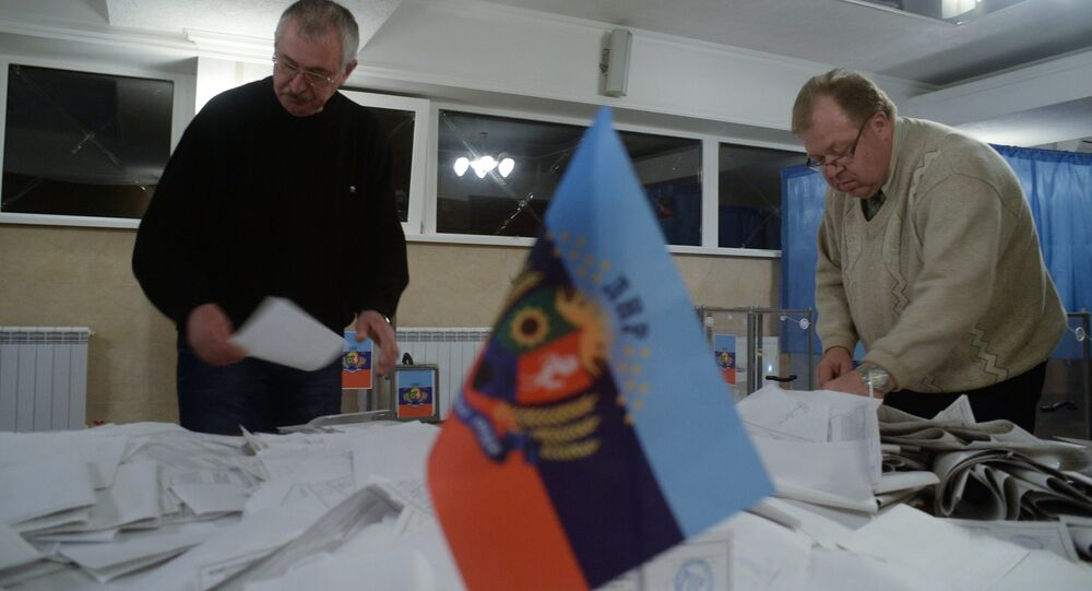 Polling station in the Lugansk People's Republic. File photo