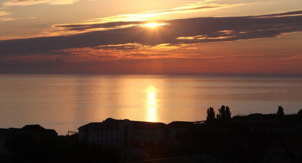 Dawn at Caspian Sea