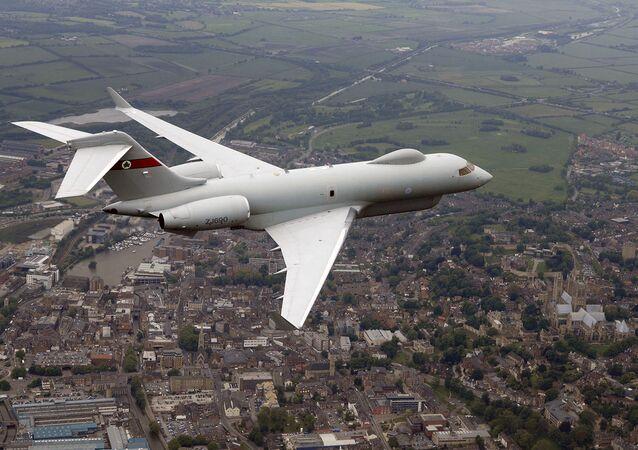 An ASTOR Sentinel R1 surveillance aircraft. (File)
