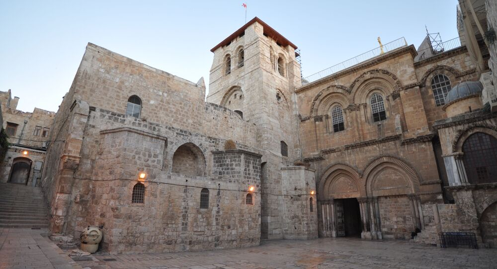 The Church of the Holy Sepulchre, also called the Basilica of the Holy Sepulchre, or the Church of the Resurrection by Eastern Christians, is a church within the Christian Quarter of the walled Old City of Jerusalem