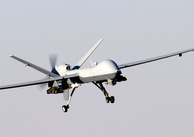 An MQ-9 Reaper, a hunter-killer surveillance UAV