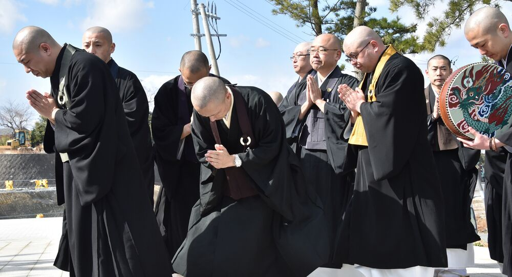 Buddhist monks at the Japan. (File)