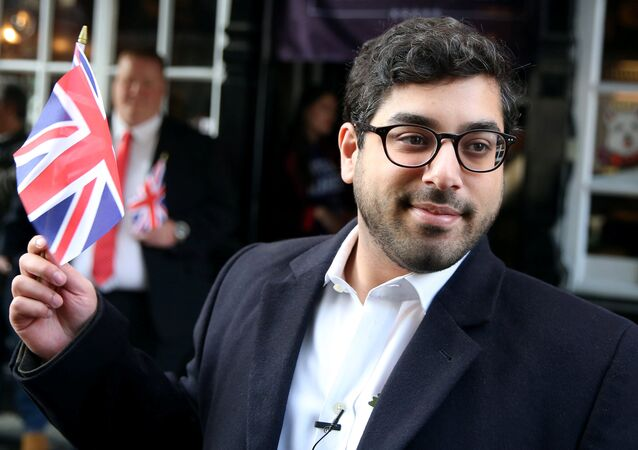 United Kingdom Independence Party (UKIP) leadership candidate Raheem Kassam poses as he arrives at a media conference at a pub in London, Britain October 28, 2016