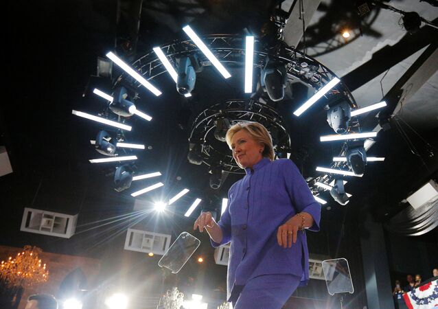 U.S. Democratic presidential nominee Hillary Clinton walks off the stage at a campaign rally at the Manor Complex in Wilton Manors, Florida, U.S. October 30, 2016