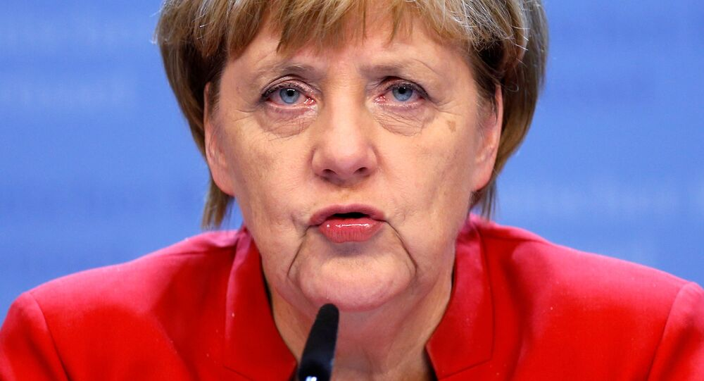 Germany's Chancellor Angela Merkel holds a news conference during a European Union leaders summit in Brussels, Belgium, October 21, 2016.