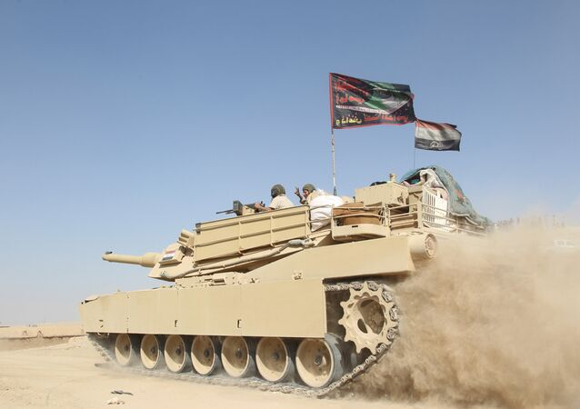 A tank of the Iraqi army