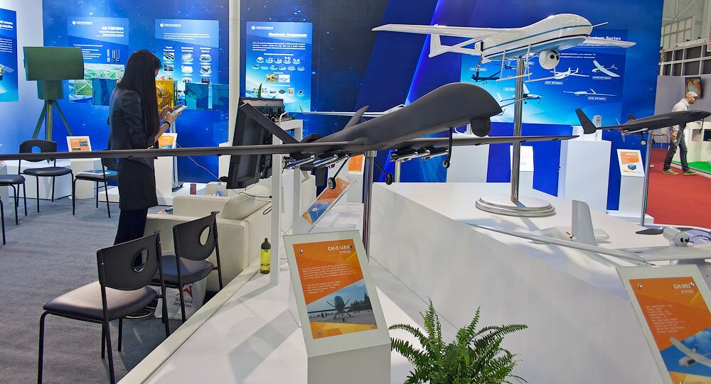 A model of China's CH-5 drone at the Army-2016 forum. file photo