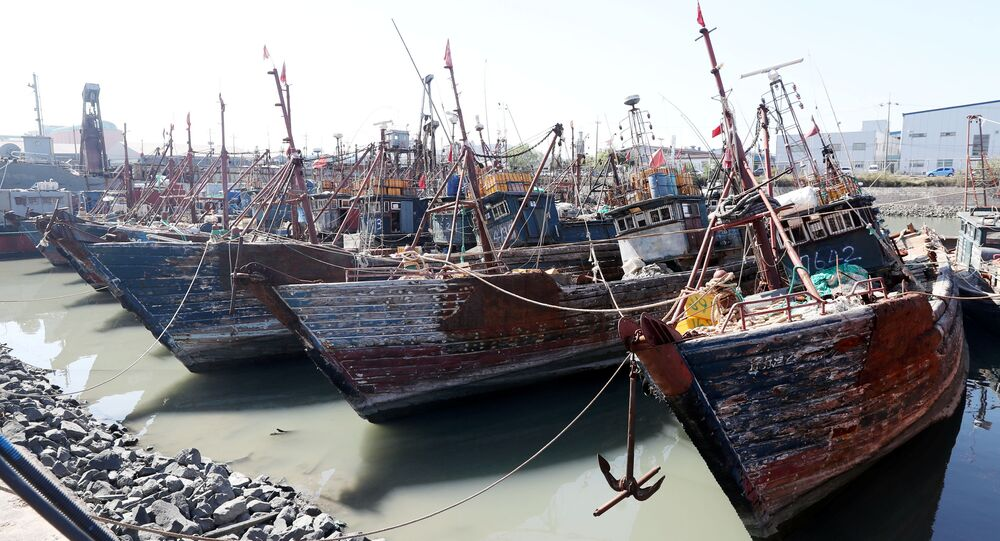 Chinese fishing boats captured by South Korean coast guard are seen at a port in Incheon, South Korea, October 10, 2016