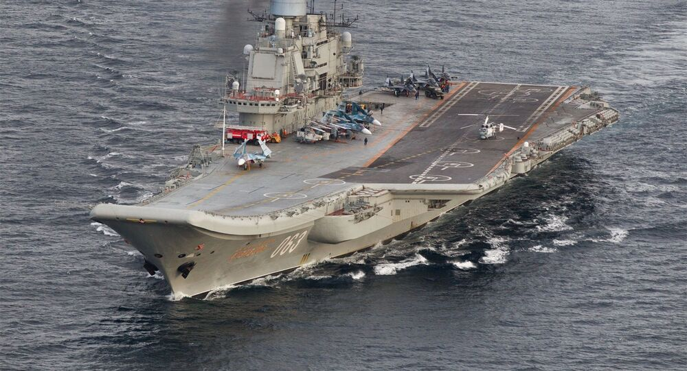 Transit of Russian Northern Fleet aircraft carrier group through the Norwegian Sea and the North Sea