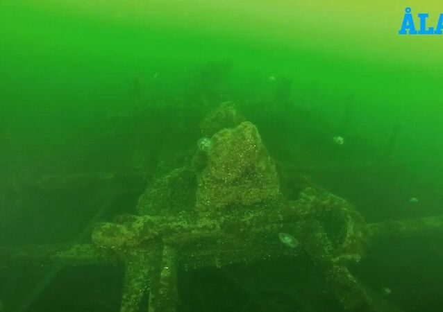 A 150-year-old sunken sailing boat discovered off the Åland Islands in Finland