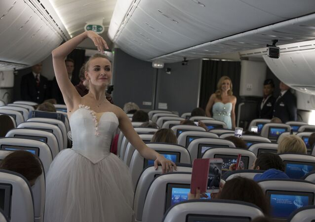 Katherine Jenkins and dancers from the Bolshoi Ballet perform first-ever ballet and musical performance in the sky