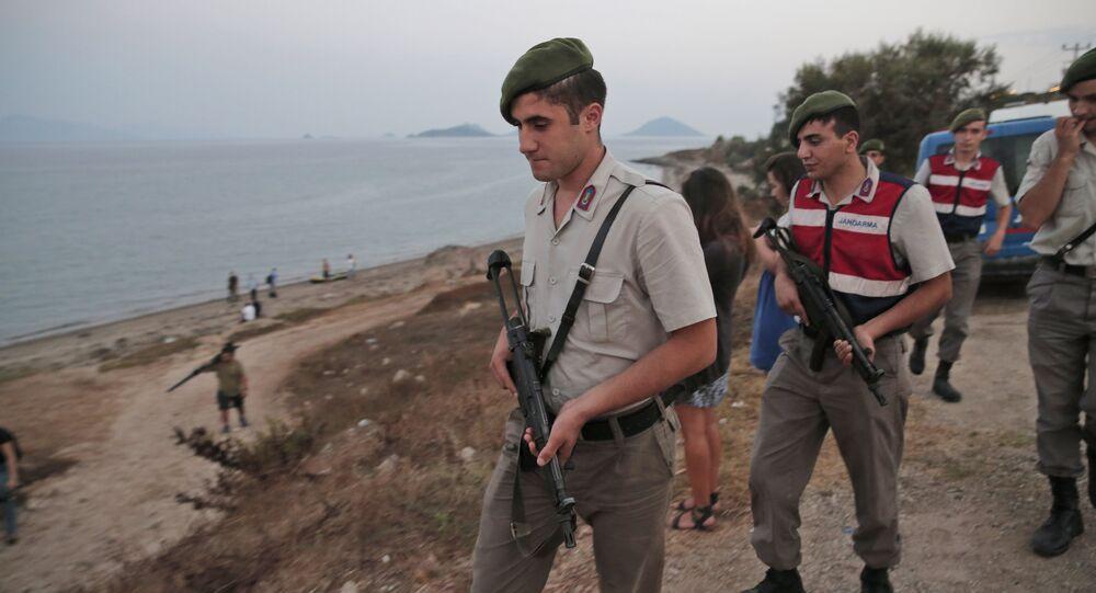 Turkish Gendarmerie police officers (File)