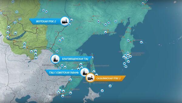 Map of new Sakhalin Hydroelectric Power Station project - Sputnik International