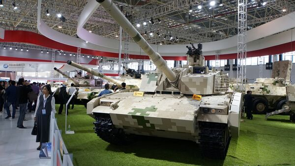 A VT5 lightweight main battle tank, built by China North Industries Corp (Norinco), is on display at Airshow China in Zhuhai, Guangdong province November 3, 2016 - Sputnik International