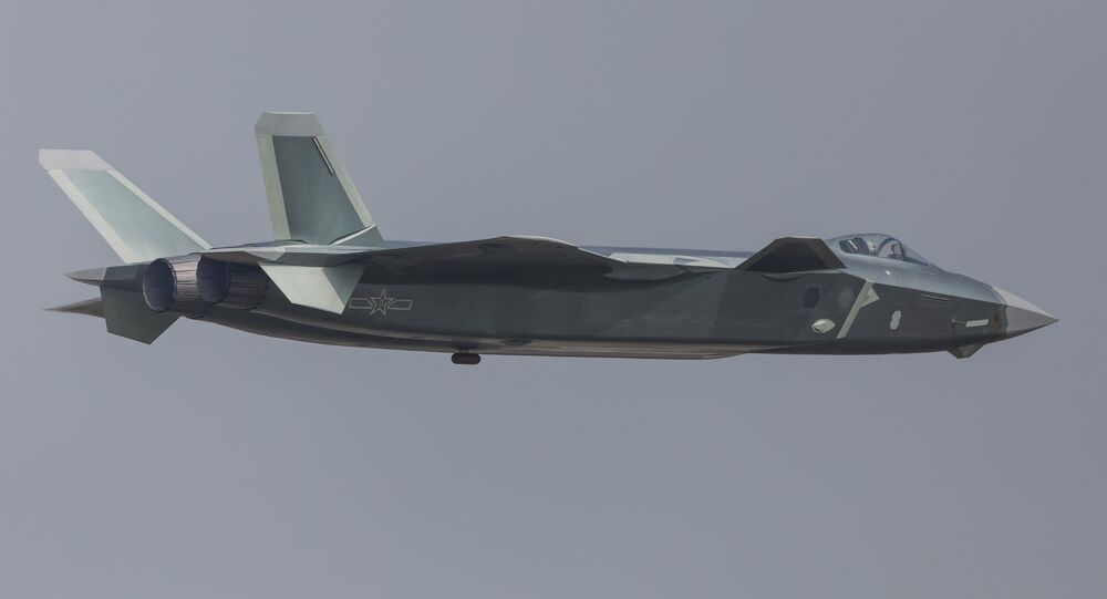 China unveils its J-20 stealth fighter during an air show in Zhuhai, Guangdong Province, China.