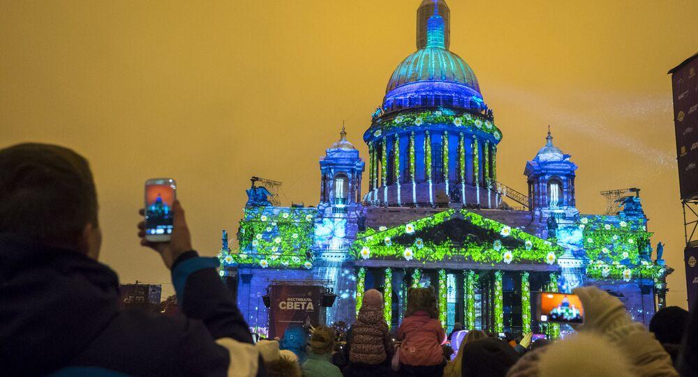 Multimedia 3D-mappig show in St. Petersburg