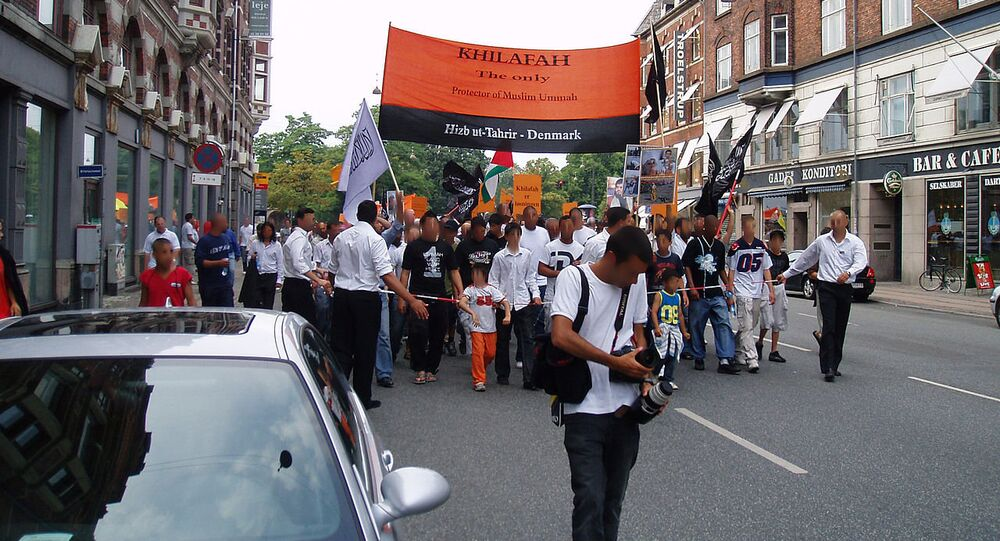 Hizb ut-Tahrir demonstrating in Copenhagen (file)