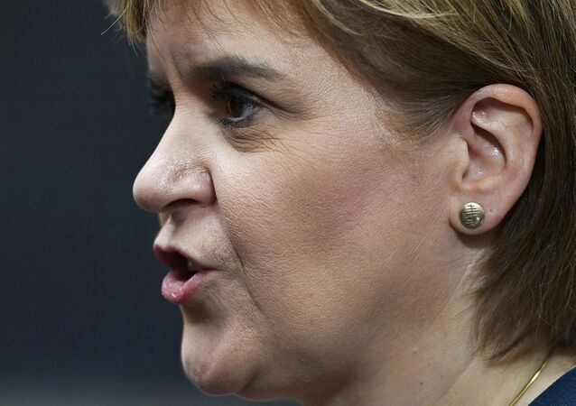 Nicola Sturgeon, First Minister of Scotland speaks to journalists as she leaves Number 10 Downing Street in London, Britain October 24, 2016.
