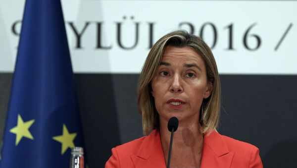 European Union's Foreign Policy Chief Federica Mogherini speaks to the media at a news conference after talks with Turkish officials in Ankara (File) - Sputnik International