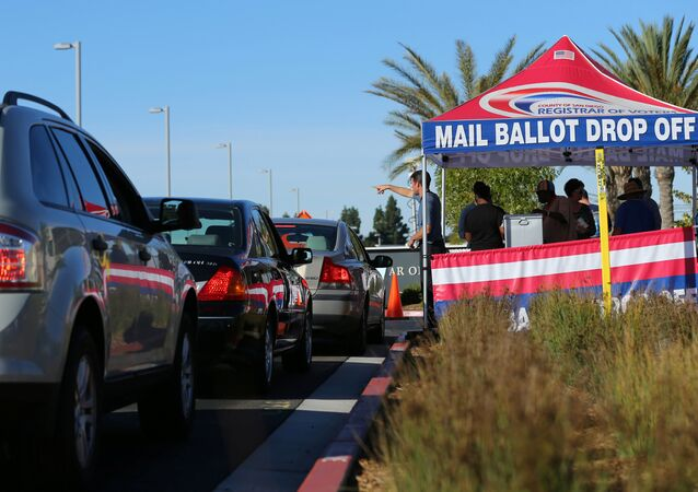 Lines of traffic wait as people vote early at the San Diego County Elections Office in San Diego, California, U.S., November 7, 2016