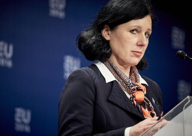 EU's justice commissioner Vera Jourova