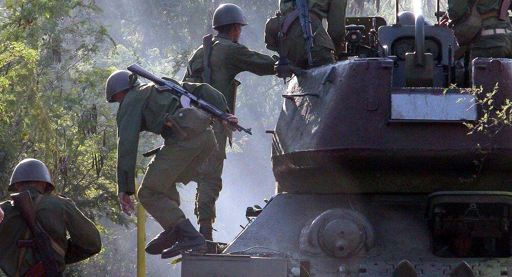 Cuban soldiers train East of Havana, Cuba