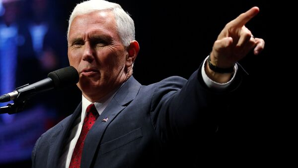 Republican vice presidential nominee Mike Pence attends a campaign rally in Manchester, New Hampshire, U.S. November 7, 2016 - Sputnik International