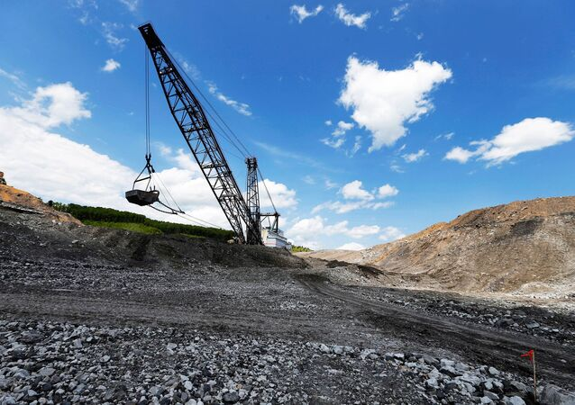 The massive Big John dragline works to reshape the rocky landscape in some of the last sections to be mined for coal at the Hobet site in Boone County, West Virginia, U.S. May 12, 2016