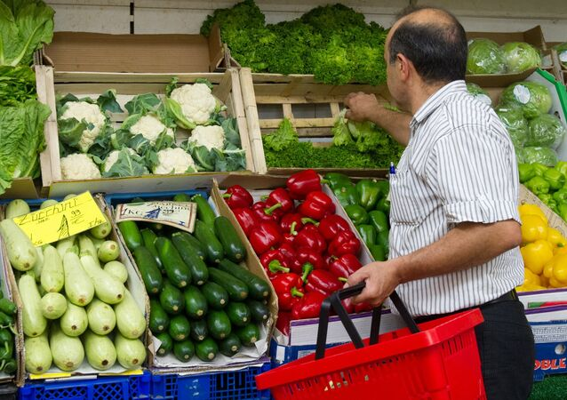 A man shops for vegetables in a shop in Berlin (File)