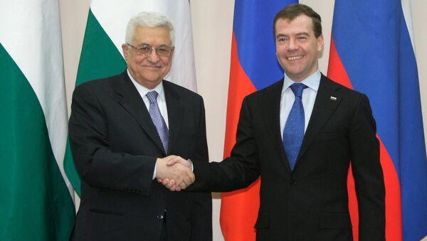 Dmitry Medvedev, Mahmoud Abbas (File) - Sputnik International