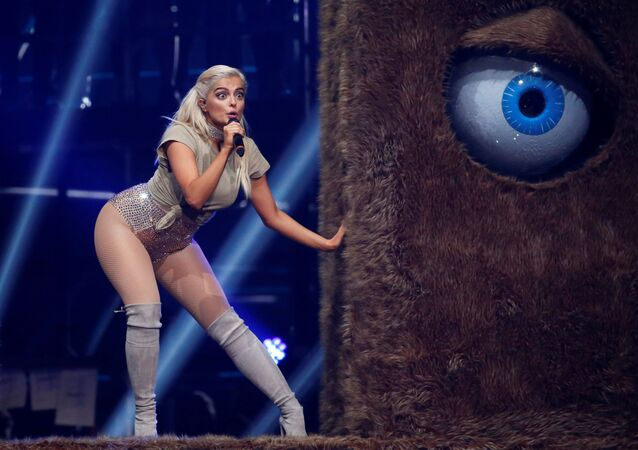 Bebe Rexha performs on stage at the 2016 MTV Europe Music Awards at the Ahoy Arena in Rotterdam, Netherlands, November 6, 2016.