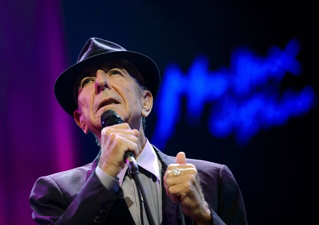 Canadian songwriter Leonard Cohen performs at the Auditorium Stravinski during the 47th Montreux Jazz Festival on July 5, 2013