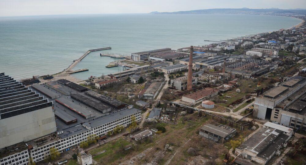 The More shipbuilding yard in Feodosia, Crimea File photo