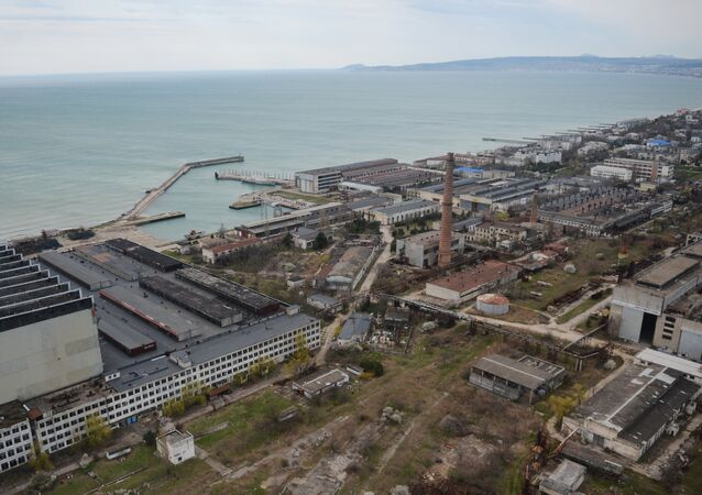 The More shipbuilding yard in Feodosia, Crimea File photo