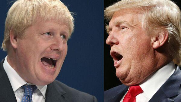 Boris Johnson and Donald Trump - Sputnik International