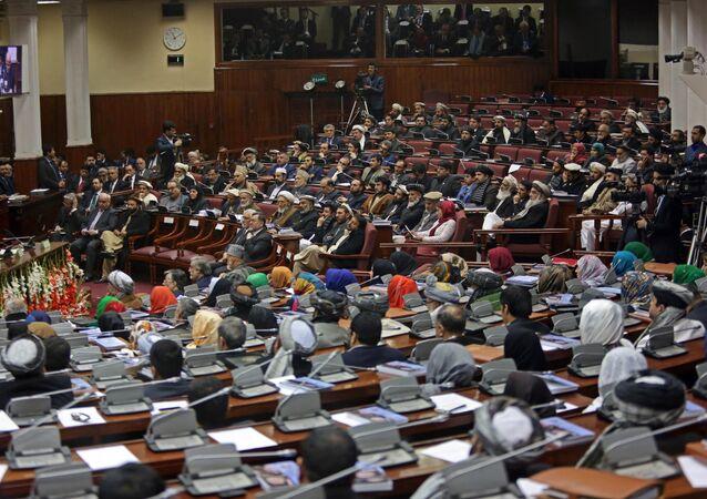 Afghan parliament members. (File)