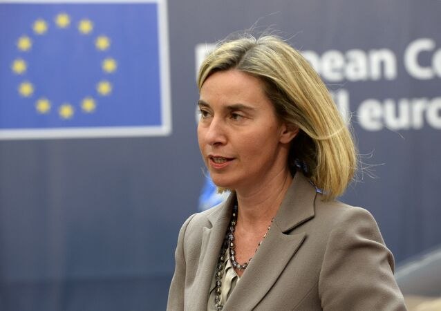 EU's High representative for foreign affairs and security policy Federica Mogherini arrives for an European Union leaders summit on October 20, 2016 at the European Council, in Brussels.