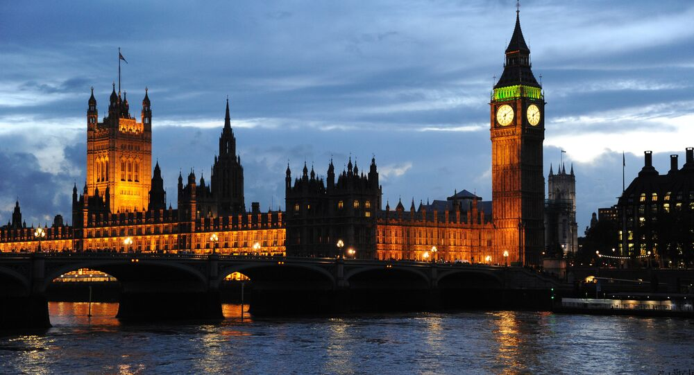 A view of London's Palace of Westminster, the Clock Tower and Big Ben.