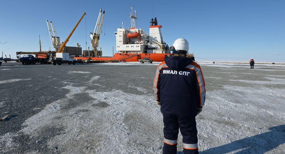 Liquefied natural gas (LNG) plant construction in Yamal