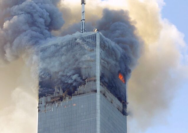 Fire and smoke billows from the north tower of New York's World Trade Center after terrorists crashed two hijacked airliners into the World Trade Center and brought down the twin 110-story towers. (File)
